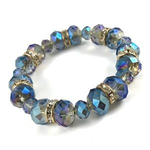 Gorgeous Blue Crystal Bracelet Czech Crystal